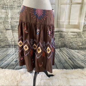 American Rag Tiered embroidered skirt
